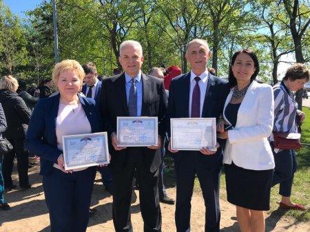 Анатолий Дроздов принял участие в закладке Аллеи парламентаризма